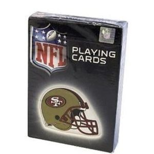 NFL San Francisco 49ers Helmet Logo Playing Cards